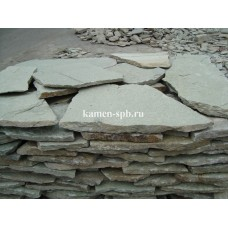 Златолит Карагайский (Кварцит) светло-зеленый, толстый